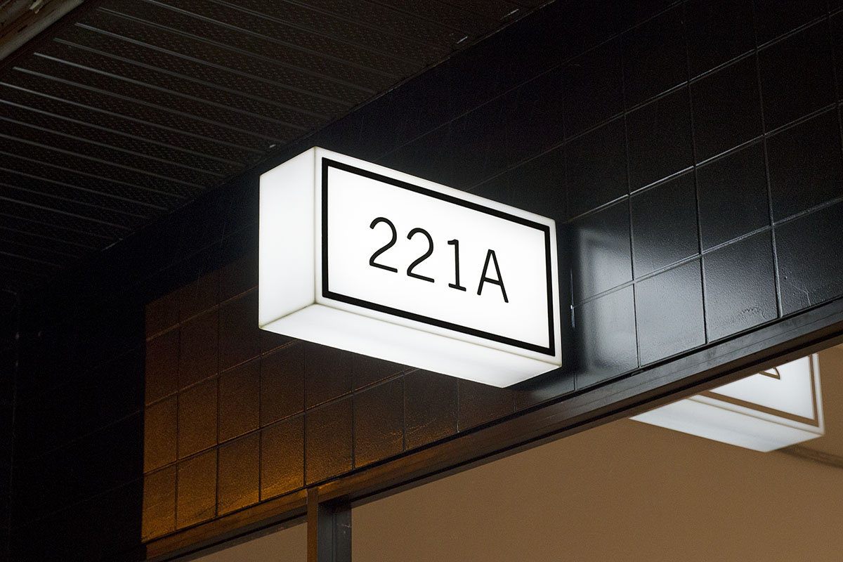 221 A Illuminated Signage Two And Two Design