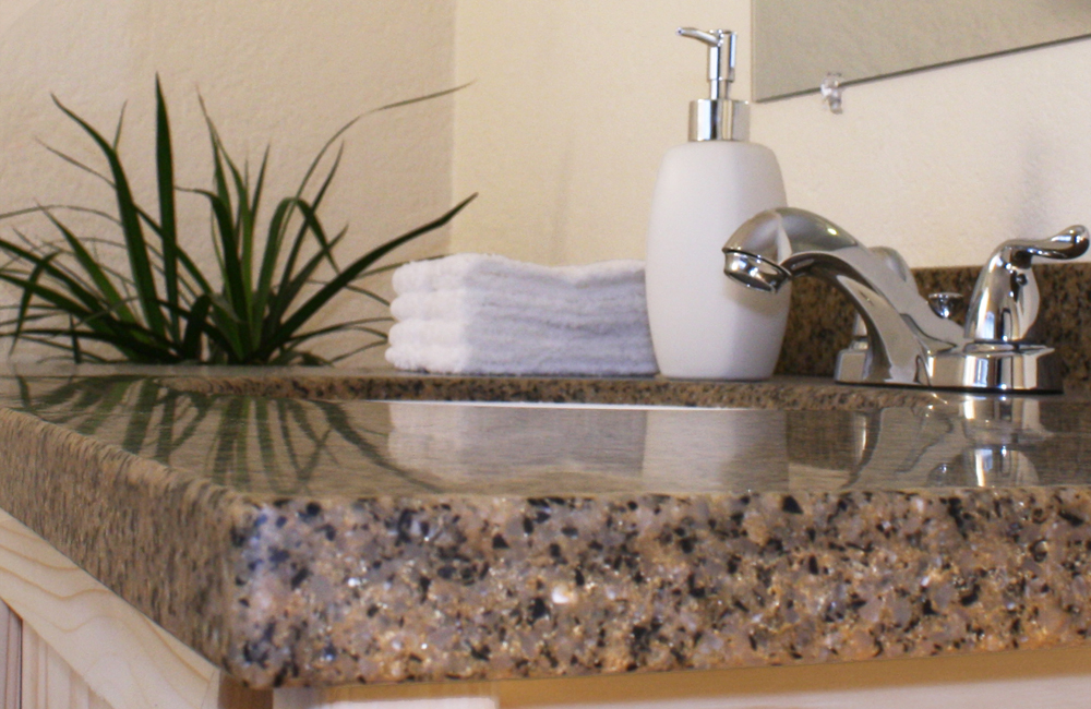 Solid Surface Countertop Edge Seam Detail
