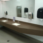 Harbour Center Downtown Vancouver Washroom Countertops