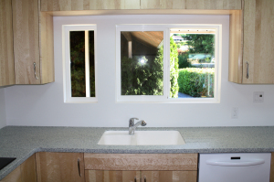 Vancouver Island Karadon Countertop and Full Height Backsplash-Sink Area