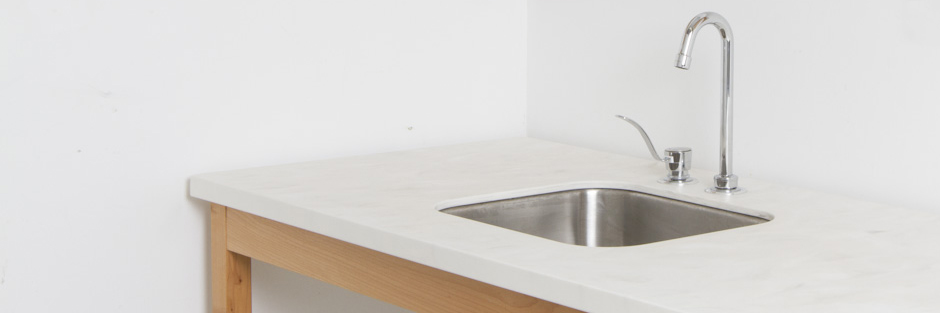 Access Gallery Kitchenette Hi-Macs Genova Solid Surface Countertops E Georgia St. VancouverBanner