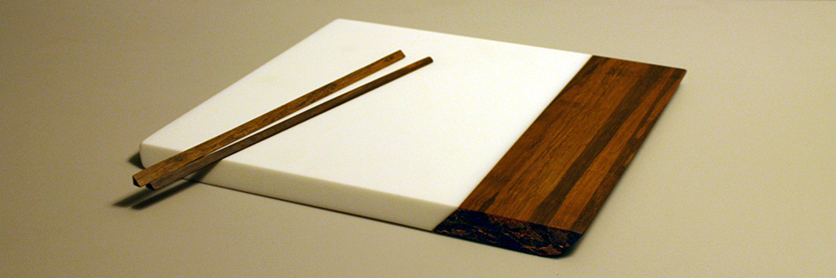 Saya Bamboo and Solid Surface Tray Banner